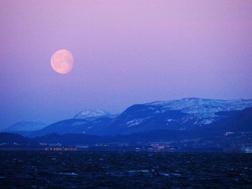 Chanonry Point v noci