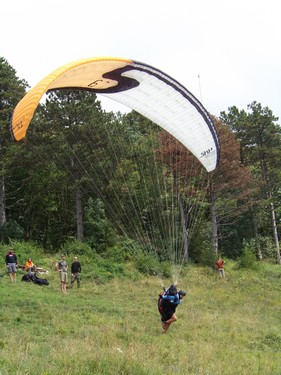 Paragliding nácvik