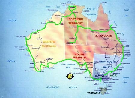 mapa australie